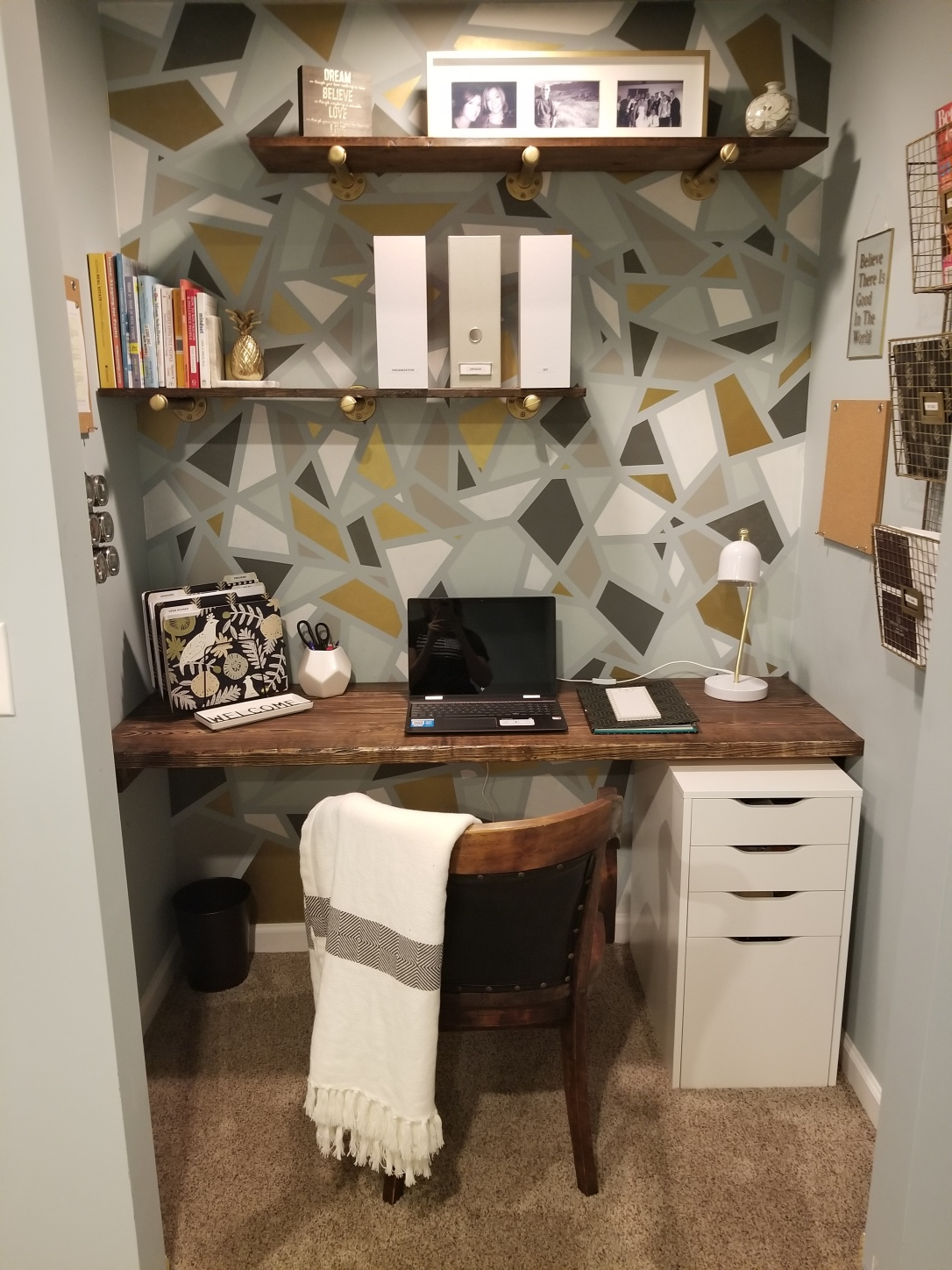 diy closet office. I Did Quite A Bit Of Research Before Kicking Off This DIY Project. Knowing  Get Easily Distracted With All The Design And Decor Options Available (oh, Diy Closet Office